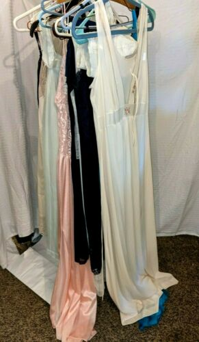 Vtg Lingerie Lot Nightgowns Bras Bustier Pajamas S