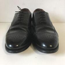 Bostonian Classics Solid Black Leather Wingtip Dress Oxfords 01279 Shoes 12 D/B