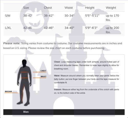 Details about  /Mens Major Meltdown Adult Halloween Costume