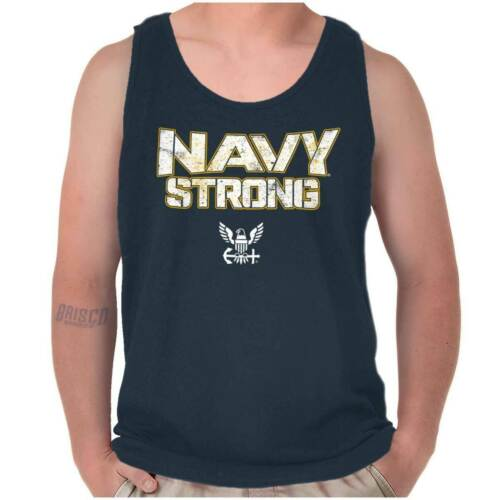 US Navy American Military Logo Armed Forces Adult Tank Top T-Shirt Tees Tshirt