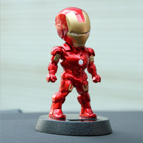 1x Shaking The Head Marrie Couple Car Accessory Decoration Toys Iron Man Holder