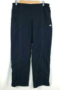 Vintage-Adidas-Womans-Size-14-Navy-Blue-Tracksuit-Bottoms-Retro-Track-Pants