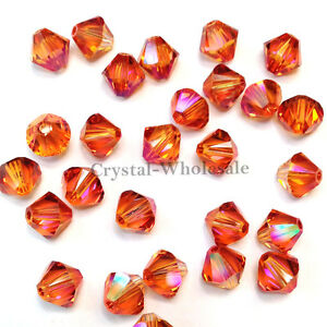 3mm Crystal Astral Pink Genuine Swarovski crystal 5328 / 5301 Loose Bicone Beads