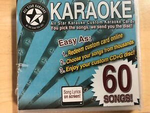 Details about All Star 60 Song Custom Karaoke Pack Choose Your Own Songs  From Their Library