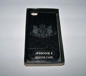 JUICY-COUTURE-iphone-4-Cell-Case-Black-Sparkle-Designer-Crest-Logo-Plastic
