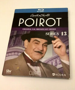 Poirot Blu Ray Series 13 Agatha Christie Original Uk Broadcast Order Acorn Itv 54961221998 Ebay