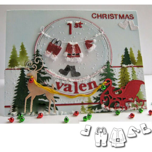 Santa Claus Stencil Metal Cutting Dies Scrapbooking Photo Album Decor Paper Card