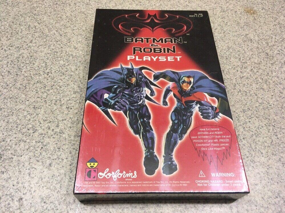 Batman und robin film Farbeforms marke playset 1997 neue fabrik versiegelten kiste