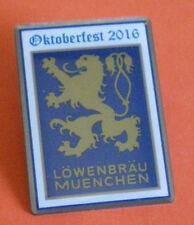 OKTOBERFEST 2016 MÜNCHEN-JAHRESPIN PLAKATMOTIV-LÖWENBRÄU plus WIESNHEFT-TOP-OVP