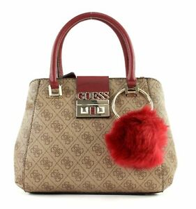 575f357591 GUESS Sac À Main Logo Luxe Small Society Brown   eBay
