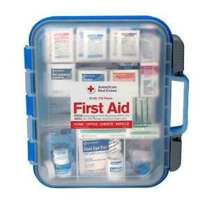 American Red Cross Clear Front ANSI A+ 50 Person First Aid Kit 216 Pieces #91140
