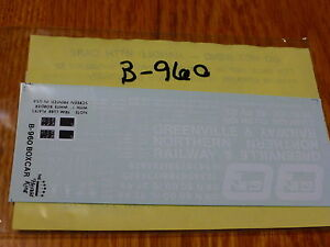 Herald-King-Decal-HO-B-960-Greenville-amp-Northern-Railway-50-039-Boxcar-11-76-Decal