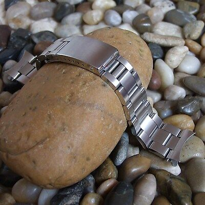 Solid Stainless Steel Watch Strap for OYSTER - with Spring Bars and Curved Ends