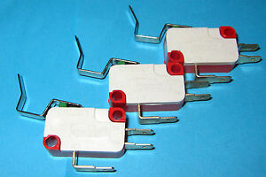3-x-Cherry-Electric-SPDT-Limiting-MicroSwitch-1A-125V-100mA-125VAC-Lever-F21-G