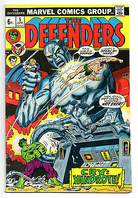 Defenders Vol 1 No 5 Apr 1973 (FN) Marvel Comics, Bronze Age (1970 - 1979)