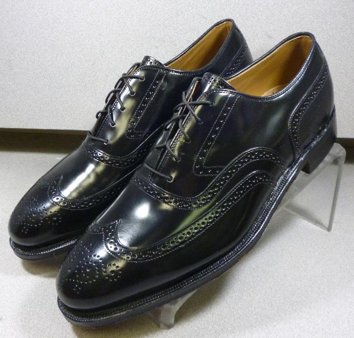 2493210 MS50 para hombres zapatos M Negro Cuero Con Cordones Johnston & Murphy