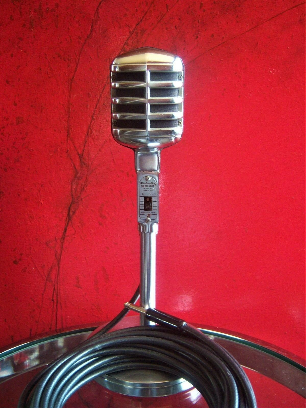 Vintage 1950's Electro Voice 611 dynamic microphone old w cable WORKS 911 915