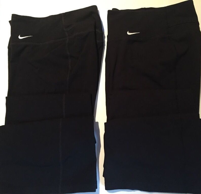 TWO PAIRS NIKE COTTON TRAINING RUNNING PANTS SIZE X-SMALL 1 PRE-OWNED & 1 NWOTS