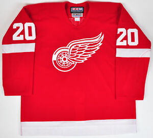 Martin-LaPointe-Detroit-Redwings-CCM-Auth-Hockey-Jersey-Fight-Strap-Red-Wings