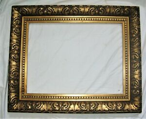 *3152 tableaux bois stuc sculpté palmette qualité 61 cm x 46 cm ancien