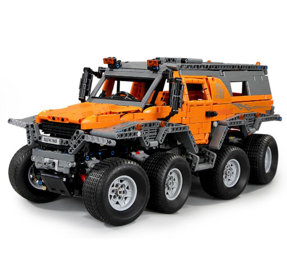 Bausteine Orange Geländewagen Fernbedienun Car Spielzeug Model Kinder Geschenk