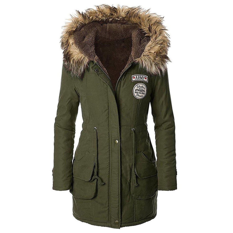 women ladies sherpa winter fleece parka fur hooded jacket. Black Bedroom Furniture Sets. Home Design Ideas