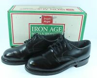Iron Age Safety Work Shoes Mens 6 D Vibram Soles Oil Resistant Black