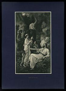 Hafis am Brunnen ( Hafiz Hafes Hafez ) Anselm Feuerbach Kunstdruck 1911 - Hamburg, Deutschland - Hafis am Brunnen ( Hafiz Hafes Hafez ) Anselm Feuerbach Kunstdruck 1911 - Hamburg, Deutschland