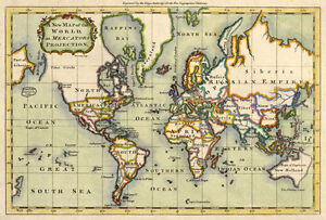 Mp6 vintage old historical 1766 world map poster re print a1 a2 a3 image is loading mp6 vintage old historical 1766 world map poster gumiabroncs Images