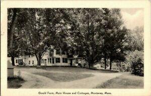 1940-039-S-MONTEREY-MASS-GOULD-FARM-MAIN-HOUSE-AND-COTTAGES-POSTCARD-KK1