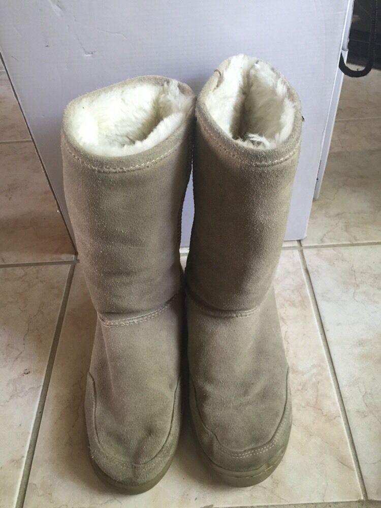 Bearpaw Brown Winter Suede 7 Women's Mid Calf Boots