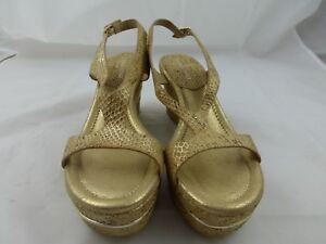 Donald-Pliner-Dress-shoes-Sandals-Tan-amp-metallic-Size-9-New