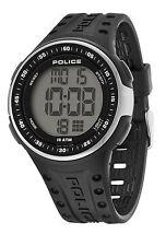 Police Cyberlite Men's Quartz Watch w Grey Digital Dial & Black Strap 13904JPBS