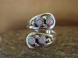 Native-American-Indian-Jewelry-Sterling-Silver-Opal-Adjustable-Ring
