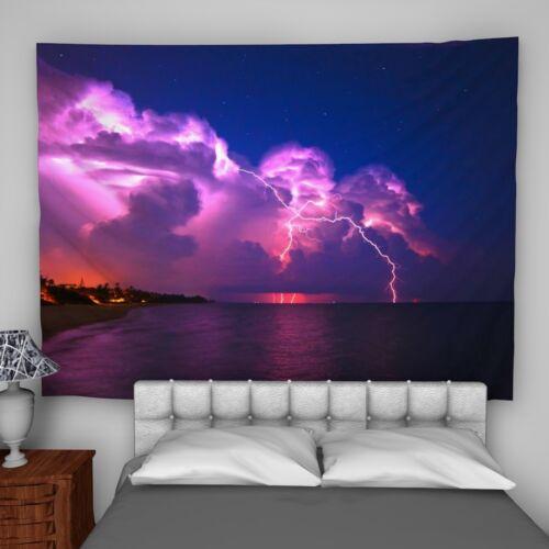 Lightning Storm Wall Hanging Tapestry psychédélique Chambre À Coucher Décoration