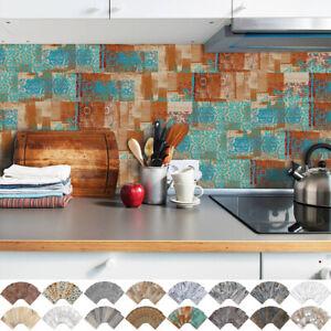 90Pcs Adhesive 3D Mosaic Bricks Tiles PVC Wall Sticker Kitchen Bathroom Decals