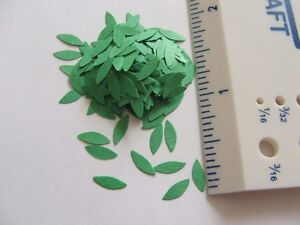 """1/"""" scale Pre Punched Long pointed oval shaped leaves"""