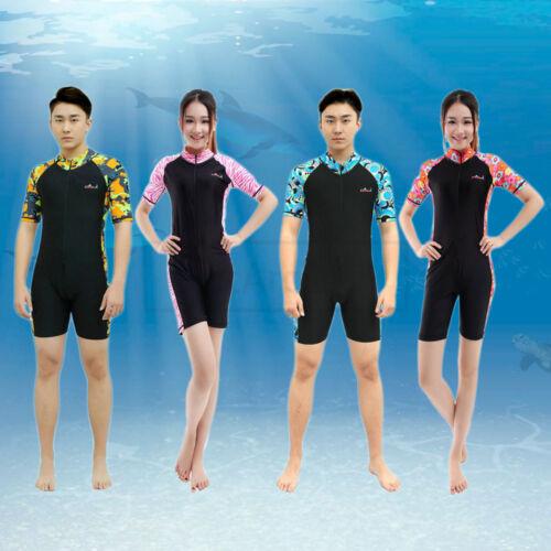 New Men Women Short Sleeve Scuba Diving Suit Snorkeling Surfing Swimming Wetsuit
