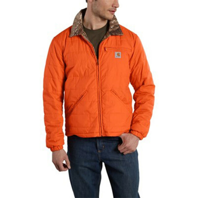 7ea646d4d17c7 Carhartt Mens Large Woodsville Jacket Reversible Camo Blaze Orange ...