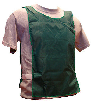 WORKOUTZ FOREST GREEN NYLON SCRIMMAGE VESTS (12 QTY, YOUTH) BIBS SOCCER PINNIES