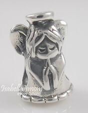 GUARDIAN ANGEL 925 Sterling SILVER Bead GUIDANCE Prayer HOPE European Charm NEW