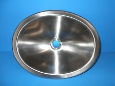 *10 X 13 OVAL STAINLESS STEEL SINK SINGLE BOWL RV SSOV-1013-22