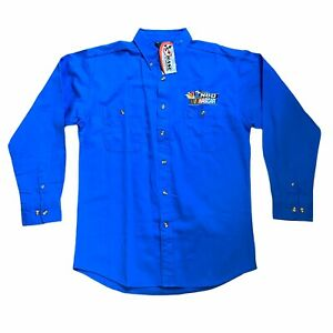 Chase-NBC-Nascar-Logo-Mens-Long-Sleeve-Button-Down-Shirt-Medium-M-Blue-NWT