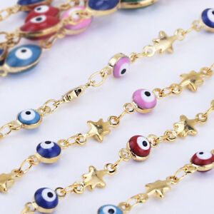 4mm-Evil-Eye-Coin-Chain-Colorful-Evil-Eye-Chains-DIY-Supply-By-THE-YARD-10236004