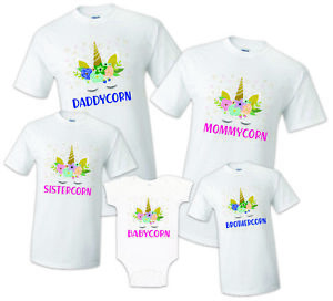 d19fefff Image is loading Unicorn-T-shirt-Birthday-Matching -Party-Reunion-Celebration-