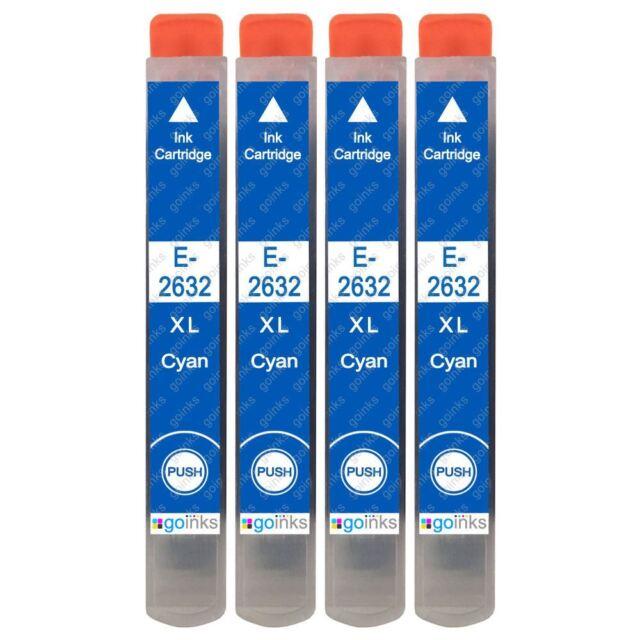 4 Cian Cartuchos de tinta para Epson Expression XP-510 XP-605 XP-610 XP-720
