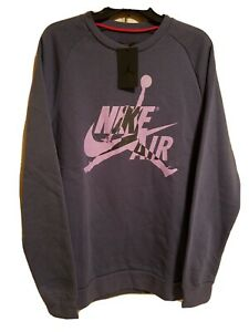 Nike-Mens-Air-Jordan-Jumpman-Classic-Crew-Sweatshirt-Sz-Lg-Purple-BV6006-557-NWT