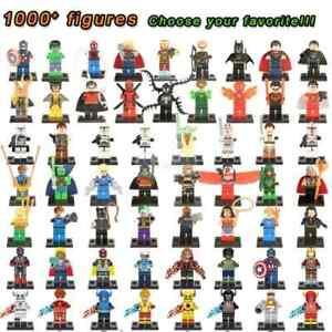 LEGO-MINIFIGURES-AVENGERS-MARVEL-DC-COMICS-STAR-WARS-CUSTOM-LIKE-compatibili