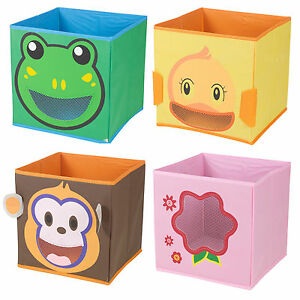 Kids-Toy-Animal-Storage-Box-Non-Woven-Fabric-Collapsible-Organiser-Children-039-s