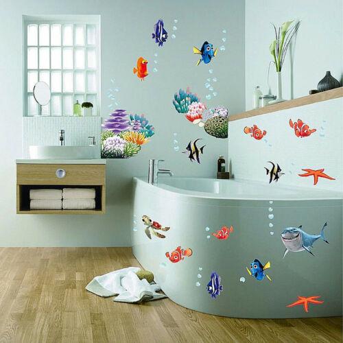 Inneneinrichtung Dekoration Wandtattoo Wandsticker Fische Hai Badezimmer Wand Bild Aquarium Meer Meerestiere Mobel Wohnen Autotest Md